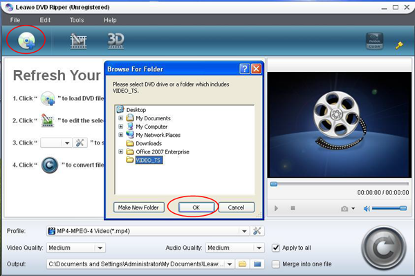Load VOB files with DVD Ripper