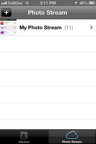 Restore from Photo Stream iCloud