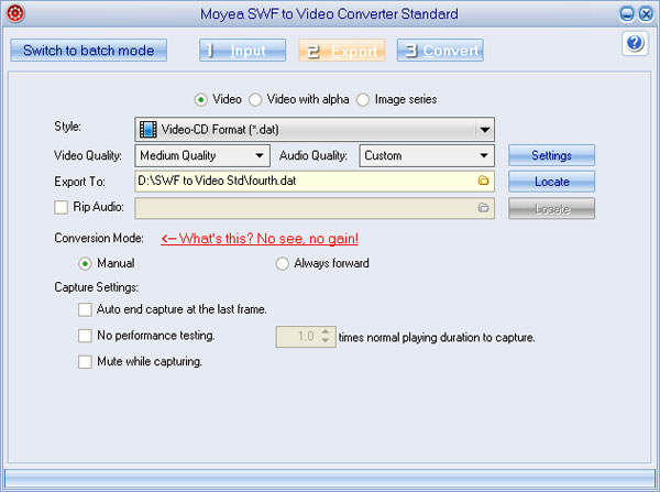 Convert Flash To Dat With Moyea Flash To Video Converter