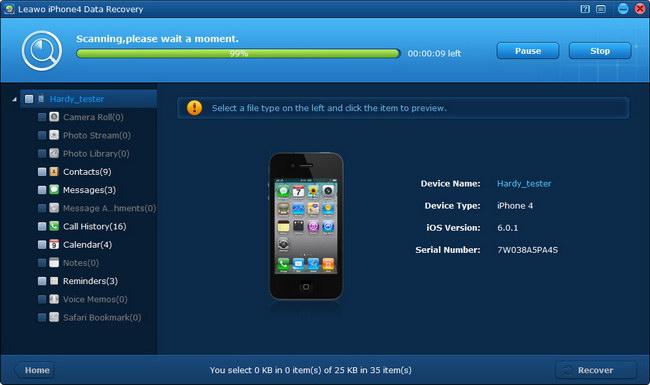Scanning iPhone 4