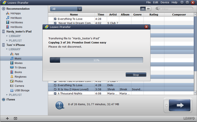 Transferring Music from iPhone to iPad