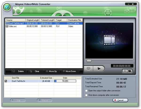 Convert MP3 to FLV - enjoy MP3 music as FLV by MP3 to FLV