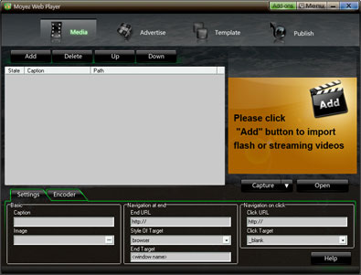 Moyea web player interface