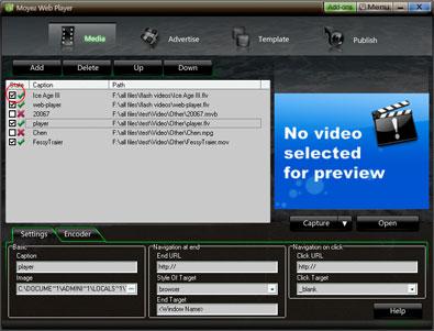 Add flash videos into web player